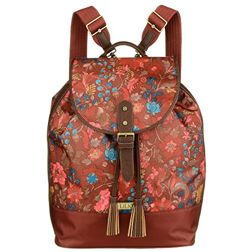LiLiÓ Backpack LIL7546-228-Rosewood Damen Rucksack Schultertasche (26x16x38 cm)