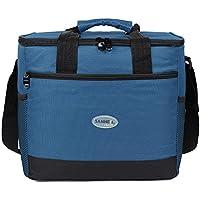 EGOGO 16L bolsa de almuerzo, Grandes aislados bolsa de almuerzo kit reutilizable aisladas caja de almuerzo con para hombre, mujere E524-2 (Azul)