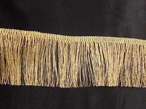 Oro metálico de Lurex vestido de flecos bordes 2