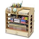 Schreibtischregal-Bürovorräte des hölzernen Aktenschranks des hölzernen Büros des Holzschachtel-Tischplattenmülls regnet A4 hölzernes
