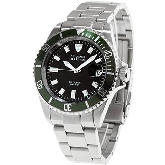 Detomaso DT3006-B – Reloj analógico de Cuarzo para Hombre con Correa de Acero Inoxidable, Color Plateado