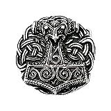 Hebilla Cinturón de martillo de Thor de Schonen, Vikingo,Thor, Odin, Martillo, plata