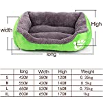 ZHENGDY Pet Bed,Modern Ultra Soft Warm Dogs And Cats Favorite Plush Pet Beds,washable Cushion Cover,D-M