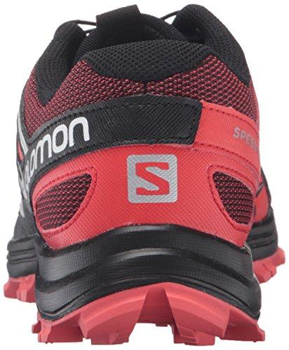 Salomon Damen L39063600 Traillaufschuhe, Schwarz Orange