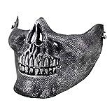 Ogquaton Máscara de Calavera Media Cara Protección máscara de plástico...