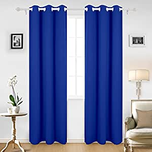 Cloth Fusion Valance Blackout Curtains Set Of 2 Peices With Tie Backs