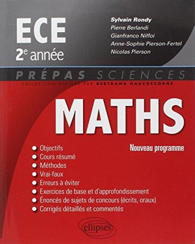 Maths ECE 2e Anne Programme 2014