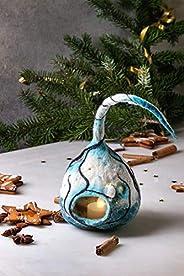 Lámpara de farol hecha a mano de la decoración de la Navidad con los árboles búho de la vela del invierno luce