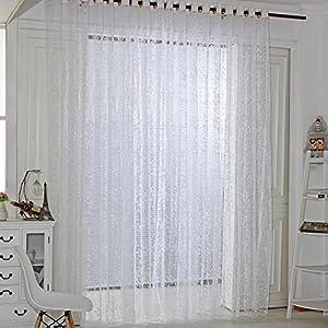 Amazingdeal365 Spitzen Vorhang Flugfensterdeko Voile Gardinen Schal 2m *1 m Set für Tür Schlafzimmer Wohnzimmer…