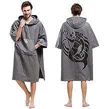 Adultos Changing Robe Toalla Poncho con capucha bolsillo en la manga, para hacer Surf,