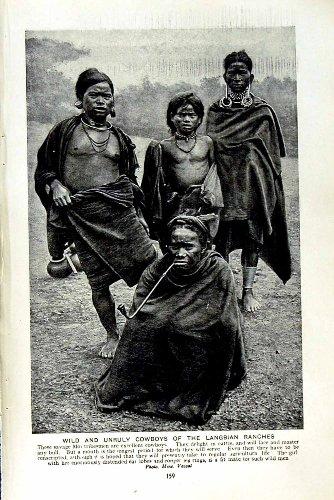 ranchs-sauvages-sauvages-des-cowboys-langbian-des-membres-de-la-tribu-c1920