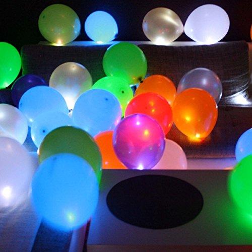 Trendario 15 LED leuchtende Luftballons - Bunt - schöne Ballons mit Licht Party, Geburtstag, Hochzeit, Festival