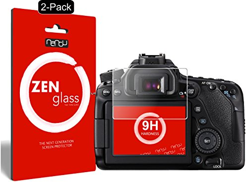 nandu I ZenGlass [2 Stück] Flexible Glas-Folie für Canon EOS 80D Panzerfolie I Display-Schutzfolie 9H