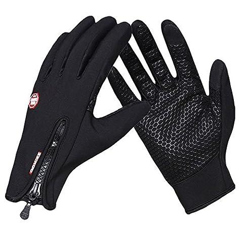 YAAGLE Unisex Winter Outdoor Warm Waterproof Cycling Hiking Climbing Sport Touchscreen Gloves for Men Women