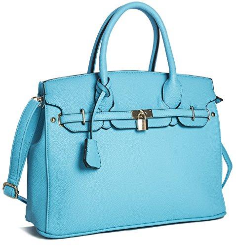 Big Handbag Shop - Sacchetto donna Blu (Baby Blu)