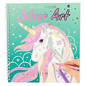 Top Model Fantasy Model Colouring Book Silver Art (0010622), Multicolor (DEPESCHE 1)