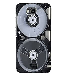 ColourCraft Retro Video Cassette Design Back Case Cover for HUAWEI HONOR BEE