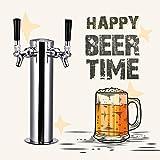 HUKOER Kit Estándar para Dispensar Cerveza en Torre Columna de 3 pulgadas - 2 grifos