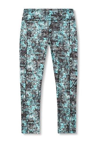 Esprit Sports 017ei1b007-Aop Tights, Leggings Femme Bleu (Turquoise 3 472)