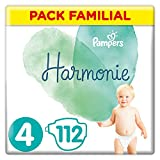 Pampers - Harmonie - Couches Taille 4 (9-14 kg) - Pack Familial (112 couches)