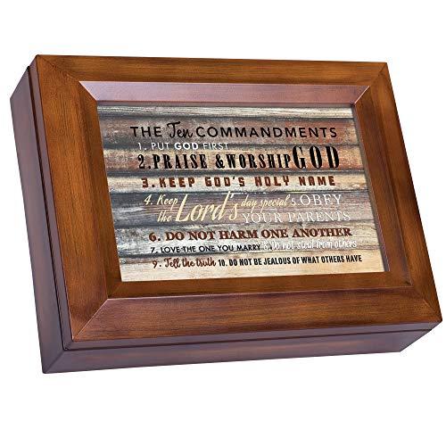 Die Zehn Gebote Holzmaserung Digital Andenken Musik Box spielt Ich kann nur Imagine