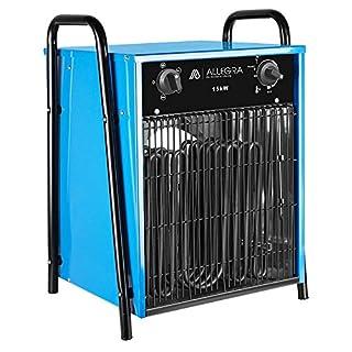 ALLEGRA H150 Heizlüfter 15 KW Elektroheizer Heizgerät Bauheizer mit Thermostat und ca. 1,5m Zuleitung