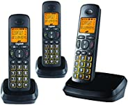 Gigaset A500 Trio (Pack of 3) Cordless Phone with 6 Hr Talk Time, 140 Hr Standby, 50M Indoor-300M Outdoor Rang