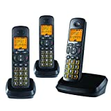 #10: Gigaset A500 Trio Black cordless landline phone with caller id & speakerphone