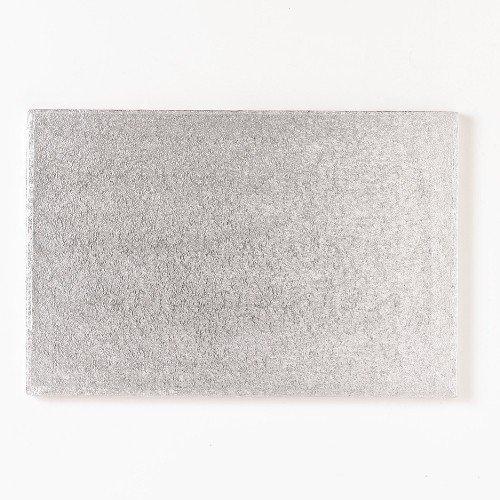 FunCakes Cake Board - rechteckige, silberfarbene Kuchenplatte ca. 40,5 x 30,5cm Cake Board