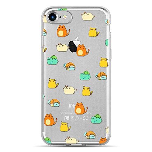 Blitz® WITZ Schutz Hülle Transparent TPU Cartoon Comic Case iPhone Papierflieger iPhone 5 Pokemons