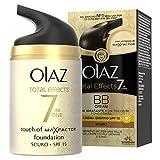 Olaz Total Effects 7 in 1 BB Cream Crema Idratante con un Tocco di Fondotinta Scuro, 50 ml