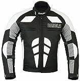 Ledershop-online Bangla Herren Motorradjacke Sportjacke Textil B-31 schwarz Weiss grau 3XL