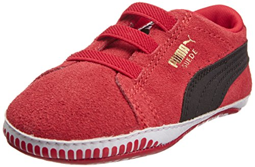 Puma Suede Crib, Sneaker Bambino Rosso (Rouge (High Risk Red/Black))