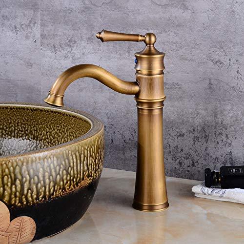Kupferne europäische Retro heiße und kalte Hahn-Badezimmer-Eitelkeit, die das drehende Hahn-Sitzen erhöht - Badezimmer-eitelkeit-sitz