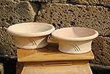 Kunert-Keramik Blumenkübel,Spanien,Schale,helles Terracotta,25cm,2er Set