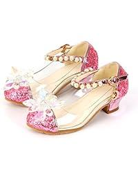 YOGLY Zapatos para Niñas Princesa Zapatos Tacones Altos Baile Zapatos de  Diamantes de Imitación ... 8b3b6274b868