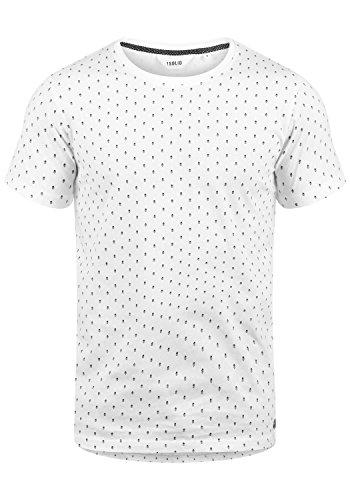 !Solid Aaron Herren T-Shirt Kurzarm Shirt Rundhals-Ausschnitt mit All-Over-Print Aus Hochwertiger Baumwollmischung