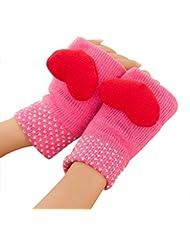 Demarkt Damen Süß sweet 3D Love Design Pattern fingerlos warmer gloves Handschuhe