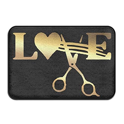 Stylist Barber Hair Cut Salon Scissor Non Slip Doormat Entrance Mat Floor Mat Rug Dirt Trapper Mats 15.7