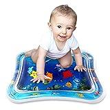 Simpeak Wasserspielmatte Baby Spielzeug Aufblasbare Wassermatte 66x50cm Blau für das Wachstum Ihres Babys(Spielzeug Baby ab 6 Monate)