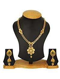 Jewels Galaxy Stunning Floral Designer Bridal Necklace Set For Wedding/Party