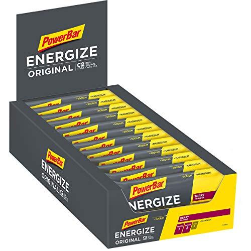 PowerBar Energieriegel Energize mit Magnesium und Natrium - Fitness-Riegel, Kohlenhydrate Riegel mit Hafer und Früchten bei erhöhtem Energiebedarf, Berry, 25 x 55 g