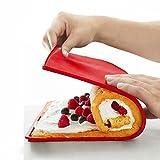 HANGNUO Silikon antihaftbeschichtet Swiss Roll & Rouladen Backblech, 31,5x 27cm, rot