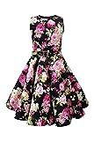 BlackButterfly Kinder 'Audrey' Vintage Divinity Kleid im 50er-J-Stil (Schwarz, 11-12 J / 146-152)
