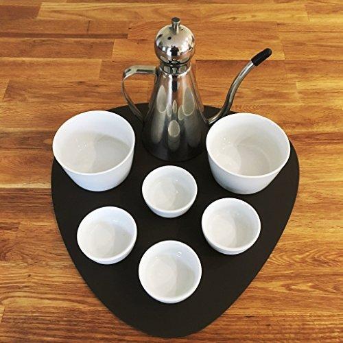 Kieselstein Portion Matte/Tisch von super cool Creation - mokka-braun Matte, Large - 45 X 60 cm -