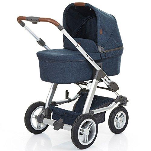 ABC Design Kombi-Kinderwagen Set Viper 4 - Komplettset, inkl. Baby-Tragewanne für Neugeborene, wird mit umsetzbarer Sportwagen-Sitzeinheit zum Buggy - Admiral