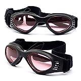 Homedecoam Hund Brille Sonnenbrille UV-Schutz Anti-Fog Brille für Mittlere Hunde