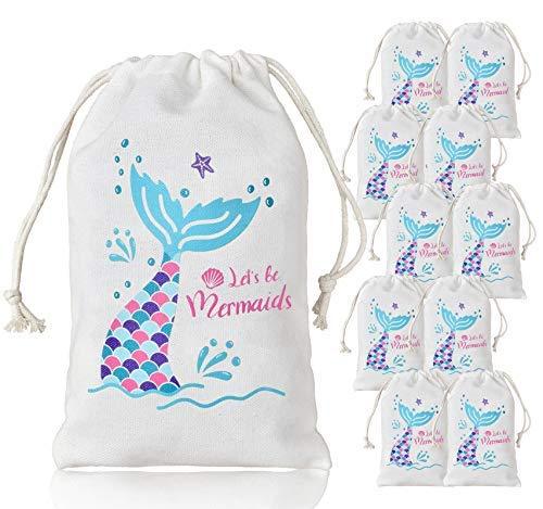 LUCK COLLECTION Meerjungfrau Partei Taschen Party Favor Treat Goodie Taschen für Kid Mermaid Party Supplies (Kids Supplies Party)