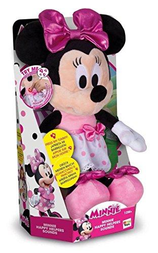 Minnie Mouse 182431MI4 Happy Helpers Sound Plüsch - Maus Minnie Puppen