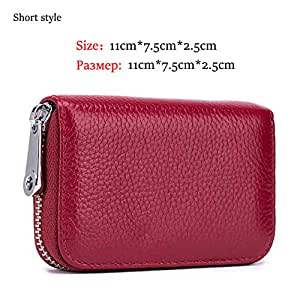 Women Real Cowhide Spilt Leather Wallets Female Long RFID Blocking Anti Theft Purses Phone Clutch Large ID Card Holders Carteras